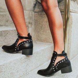 Shoes - 🆕️//The Georgia// Black studded cutout bootie